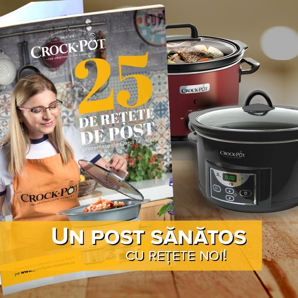 Carte 25 rețete gustoase de post gătite de Oana Țepelin la  Slow Cooker-ele Crock-Pot