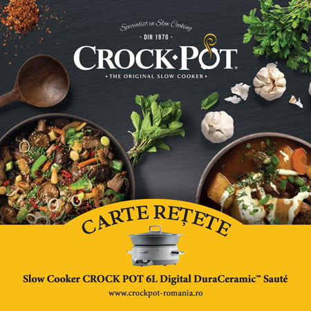 Carte rețete Slow Cooker Crock-Pot 6.0 L Digital DuraCeramic Sauté
