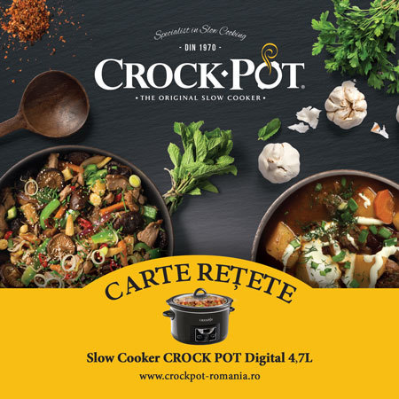 Carte rețete Slow Cooker Crock-Pot 4.7 L Digital DuraCeramic Sauté