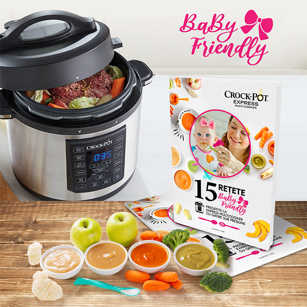 Carte rețete 15 rețete Baby friendly la Express Multicooker cu gătire sub presiune Crock-Pot