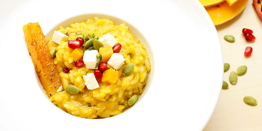 Risotto cu dovleac by team Adrian Hadean