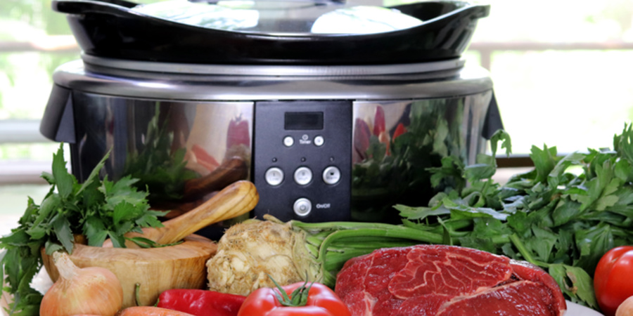Ciorba de vita la Slow Cooker Crock Pot 5.7L Digital by Bucatar Maniac