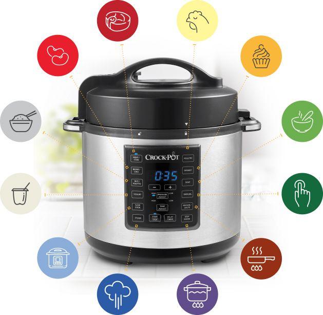 Express Multicooker cu gătire sub presiune Crock-Pot